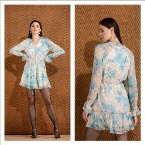 Hemant & Nandita Shimmer Blush Dress